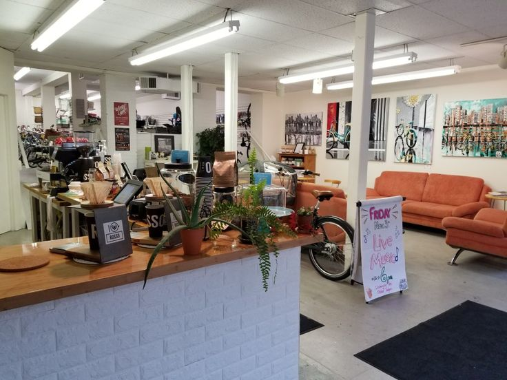 Bikes and coffee share a space in London's vibrant cafe scene.