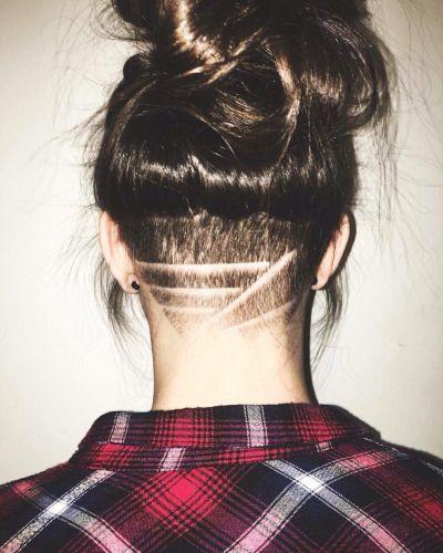 Astounding 1000 Ideas About Undercut Designs On Pinterest Undercut Nape Short Hairstyles For Black Women Fulllsitofus