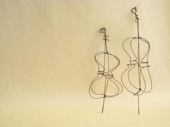 wire sculpture...... musical instruments
