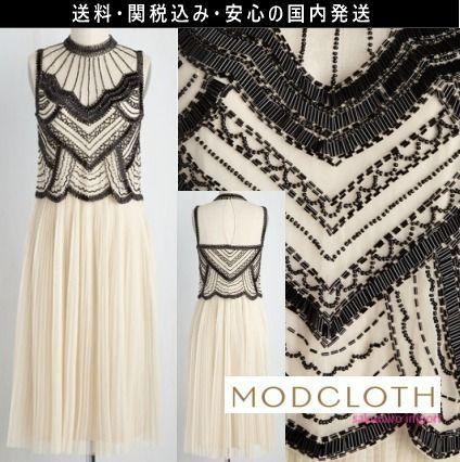 ★人気 モドクロス modcloth 結婚式 ビーズ プリーツ ワンピース ドレス 2016 レトロ ファッション テイラースイフト