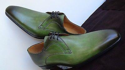 MAGNANNI Parisien Chic  Derby Style Rare Fern Green laceup plain toe shoes