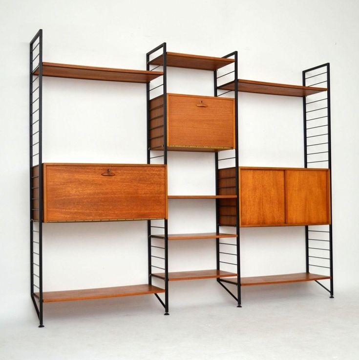 Teak retro vintage Ladderax by Staples for sale London | retrospectiveinteriors.com