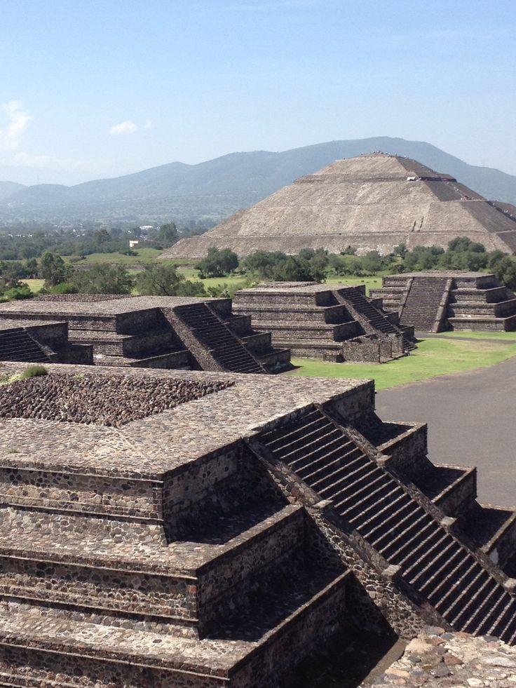 Teotihuacan pyramids.  Mexico Teotihuacan