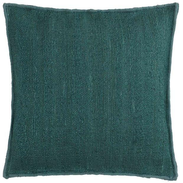 Silani Floor Cushion Grey Green 90 Jute 10 Cotton Urbanara