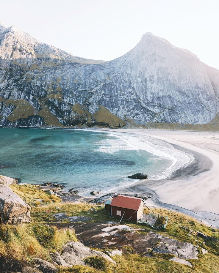 """Bunes Beach, Lofoten Islands. Even though this place was easy on the eyes, hearing it's story sent shivers down my spine. Back in the early 1900's, the…"""