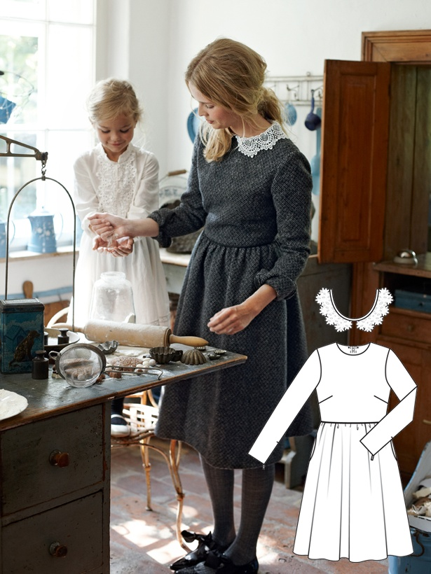 Explore this interactive image: Sew this lovely tweed dress by BurdaStyle Admin