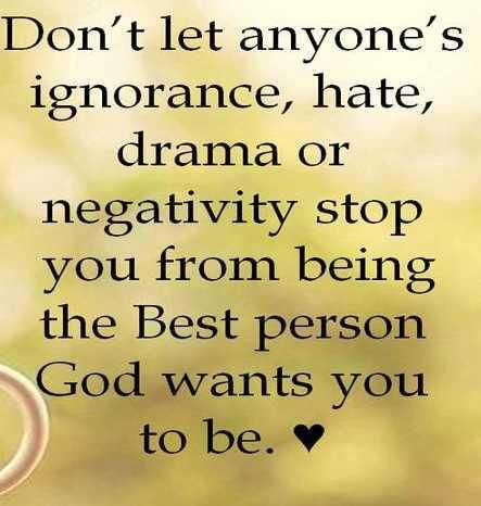 Don't let anyone let you down