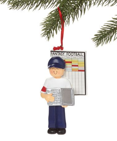 Love this Brown Hair Male Fantasy Football Stats Ornament on #zulily! #zulilyfinds