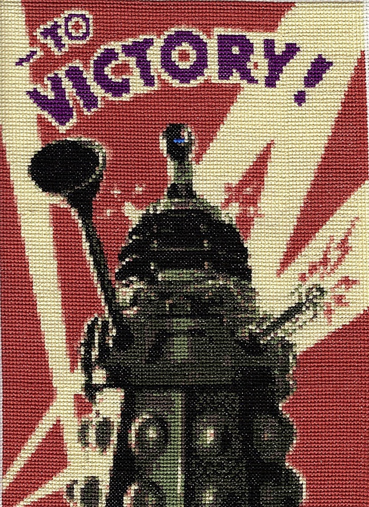 Doctor Who Dalek Propaganda Poster Cross Stitch PATTERN. $0.50, via Etsy.
