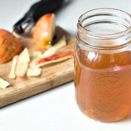 Homemade apple cider vinegar is easy to make from apple scraps and it's so healthy for you! Best of all, it costs less than a penny per tablespoon.