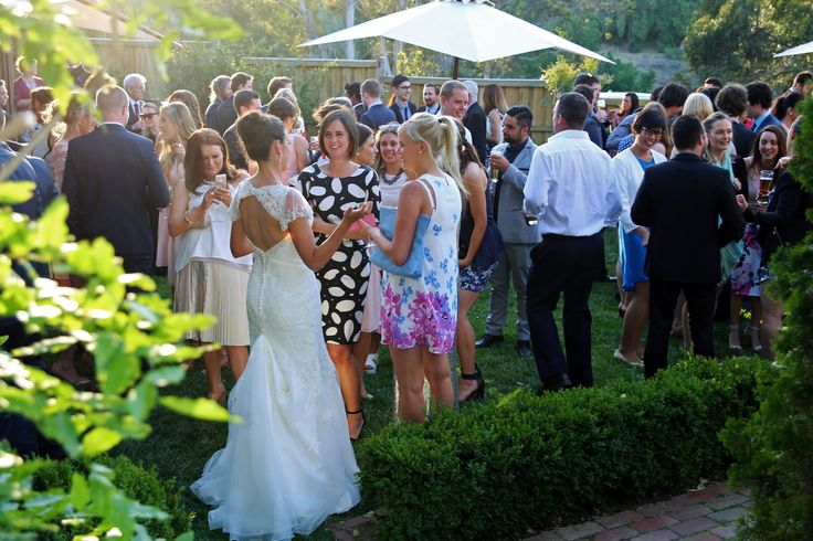 Mingling in the garden.  Photo credit: Star Photography
