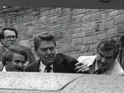 On this day, March 30, in 1981, US President Ronald Reagan is shot and wounded in a failed assassination attempt. (image courtesy: USA Today.com at http://www.usatoday.com/news/washington/2011-03-30-secret-service-agent-reagan-shot_N.htm)