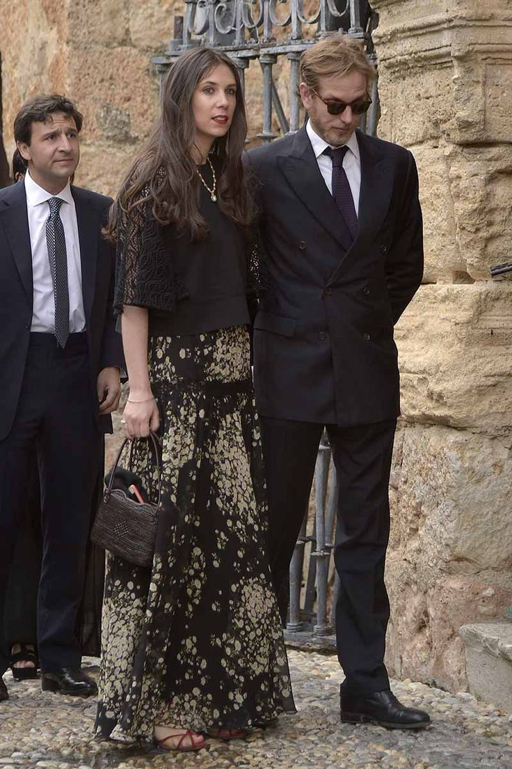 Tatiana Santo Domingo and Andrea Casiraghi attend the wedding of Alejandro Santo Domingo and Lady Charlotte Wellesley on May 28, 2016 in Illora, Spain