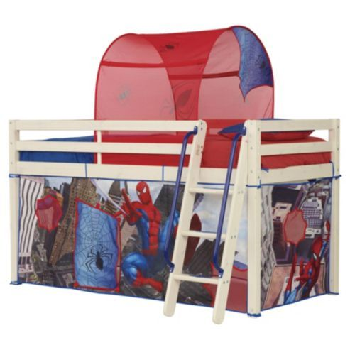 Buy Spiderman Midsleeper Bed Tent Pack From Our Mid High