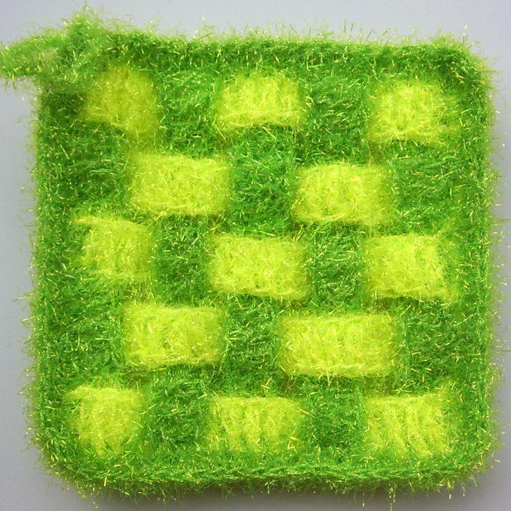 My Handmade Crochet Square Grid Dish Scrubbies 2017년 1월 11일(수) 저녁에 ~~~~
