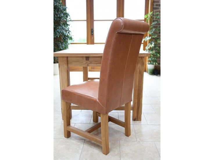 Titan Mocha Brown Leather Dining Chairs