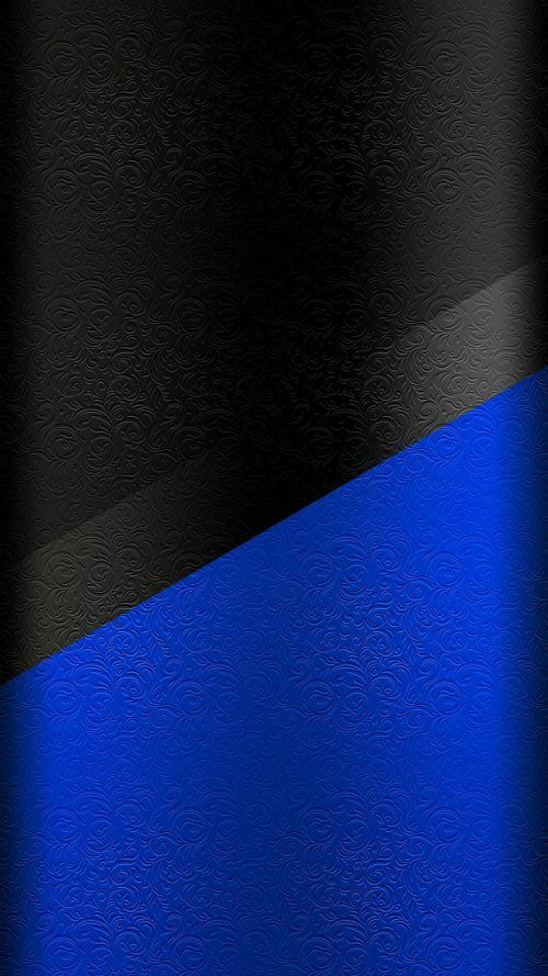 Dark S7 Edge Wallpaper 01 with black and blue floral pattern