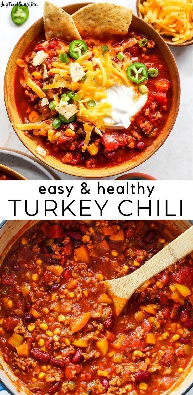 Healthy Turkey Chili Recipe In 2020 Chili Recipe Turkey Healthy Chili Recipe Turkey Turkey Chili