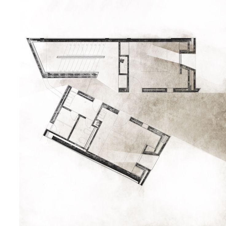 P2.Casa en Corrubedo. David Chiperfield. Composición II. Autocad+Photoshop. Watercolor