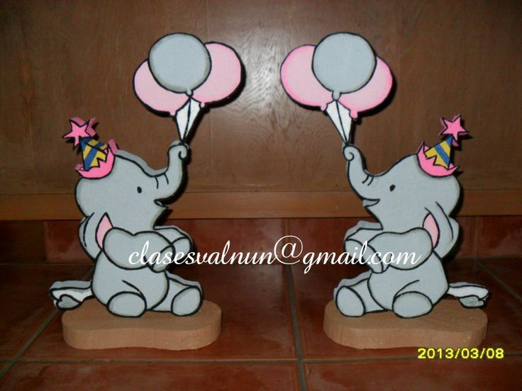 Elefantes para centro de mesa | ideas para fiestas | Pinterest
