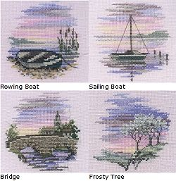 Minuets - Set of 4 Cross Stitch Kits Min09/10/11/12