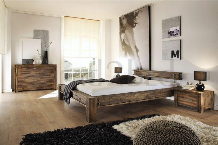 Hasena San Luca - Solid Acacia Vintage Modern Bed