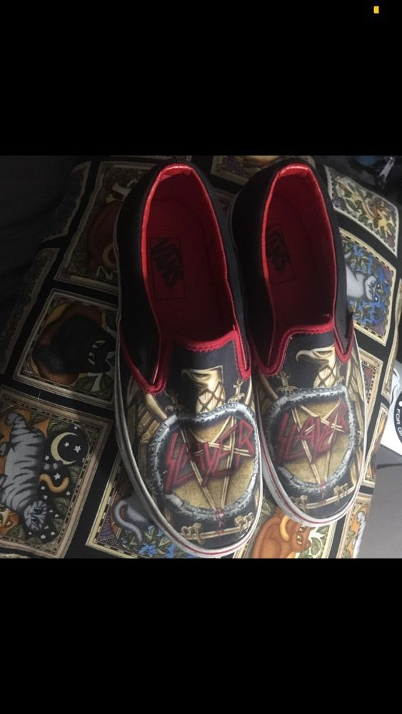 4e67c6fb6e RARE  Slayer x Vans slip on shoes Size 7.5 Mens 9 Womens  fashion  clothing   shoes  accessories  mensshoes  casualshoes (ebay link)
