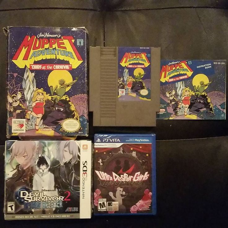 You'd like this one by romanred66 #nes #microhobbit (o) http://ift.tt/1QFYERv up the box and manual for #Muppets for the  to complete my loose copy bringing me to 596 boxed #Nintendo games. Also picked up #devilsurvivor2 and #ultradespairgirls on clearance from Best Buy for cheap! Happy #devilsurvivor was the deluxe edition with decals and soundtrack! #psvita #playstation #3ds #atlus #nisamerica #retrocollecting #retrocollective #gamecollection #cib