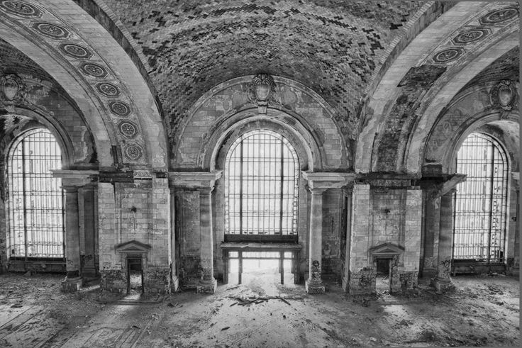 Michigan Central Train Station. My dad took me to see cool creepy abandoned stuff quite often.