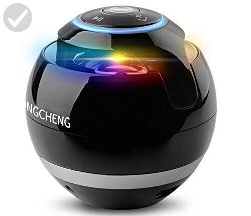 YongCheng Portable Wireless Bluetooth Speaker with Colorful LED Light and Compatible with all Bluetooth Devices,Handsfree Speakerphone and 3.5mm Jack(Black) - Audio gadgets (*Amazon Partner-Link)