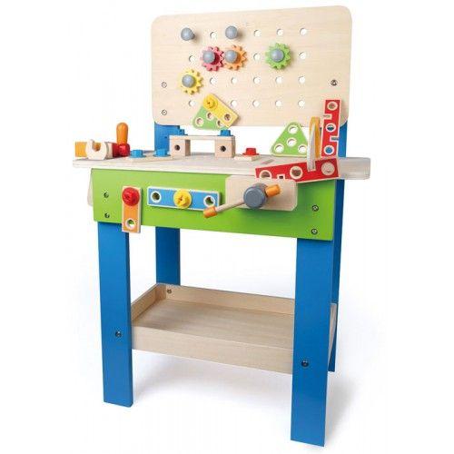 Banco da Lavoro Giocattolo di Legno per Bambini Hape - Banco da Lavoro con Attrezzi