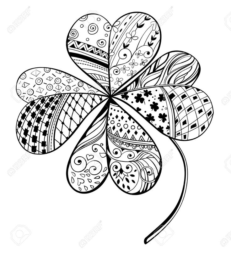 229956fourleafhanddrawndecorativecloverfilled