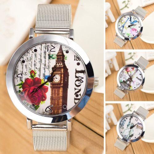 Lady-Womens-Alloy-Quartz-Analog-Fashion-Lager-Dial-Dress-Bracelet-Wrist-Watches