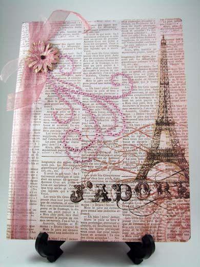 J'Adore - I Adore You Altered Composition Notebook