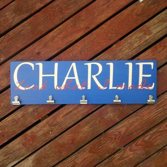 PERSONALIZED Brag Board, Artwork Display Board, Children's, School Work, Display, Painted wood sign