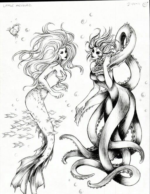 Love the octopus girl to go with my mermaid tattoo!!