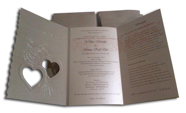 Traditional silver wedding invitation