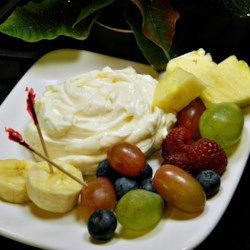 Lemony Cream Cheese Fruit Dip Recipe