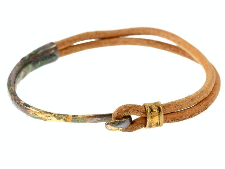Crescent Moon Bracelet - Gold & Mocha