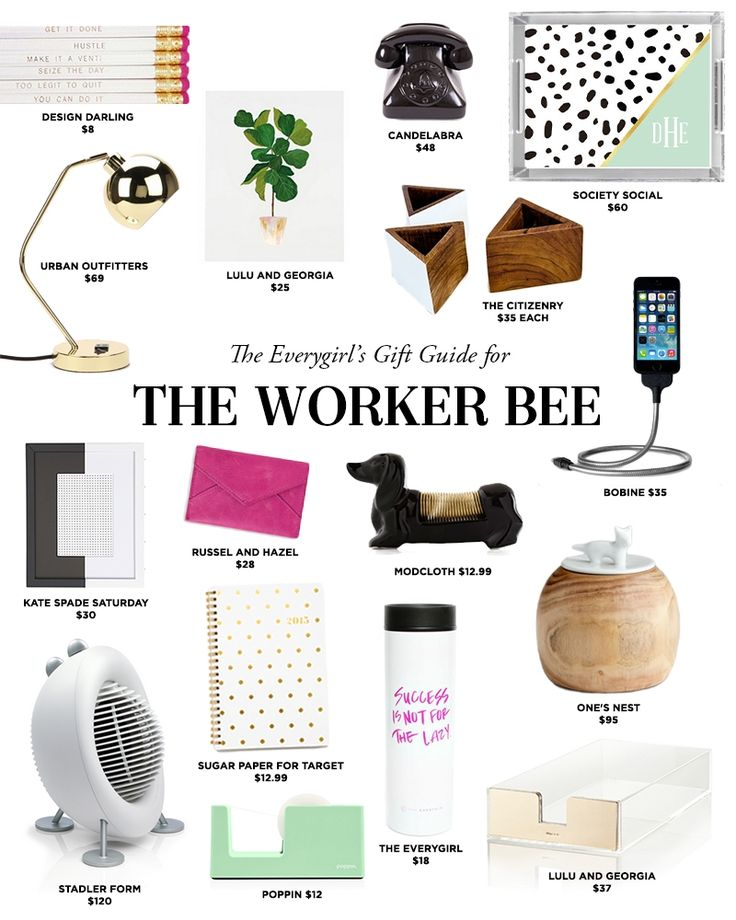 Gift Guide For The Worker Bee. Love These Gift Ideas For The Lady In Your  Life Who Works Hard. Office Supplies, Desk Accessories, Tech Gear And Gold  ...