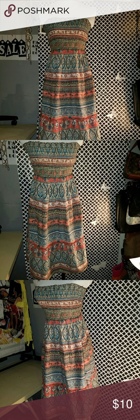 Mudd Hippie style dress Small pre-loved men in excellent condition Mudd hippie style dress Mudd Dresses Strapless