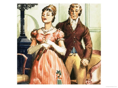 """Mr. Darcy and Miss Bennett from """"Pride and Prejudice,"""" by Jane Austen"""