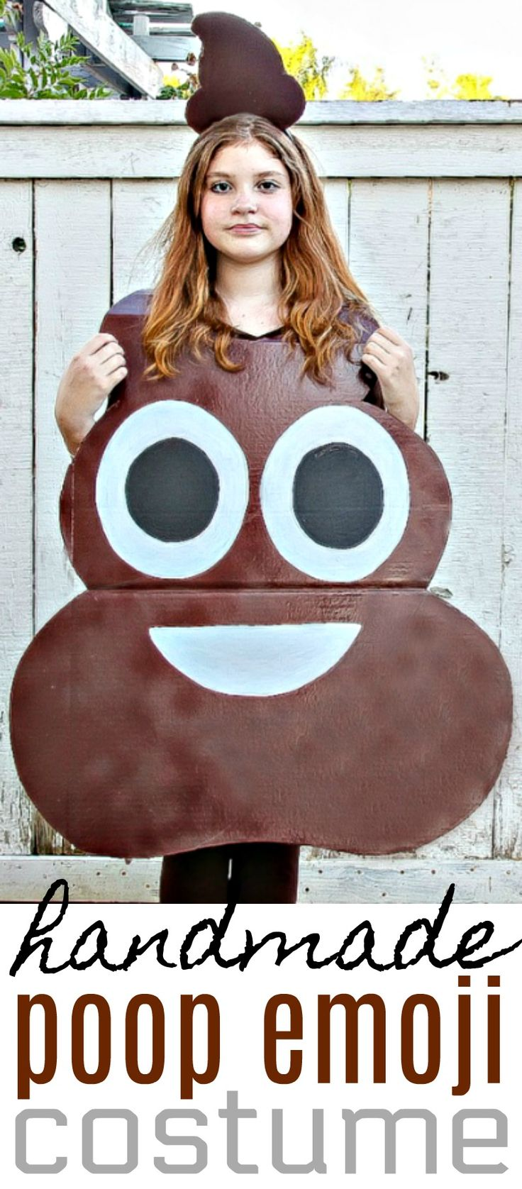 How to Make A Poop Emoji Costume For Kids - Easy DIY Halloween Costume - 5 Minutes for Mom