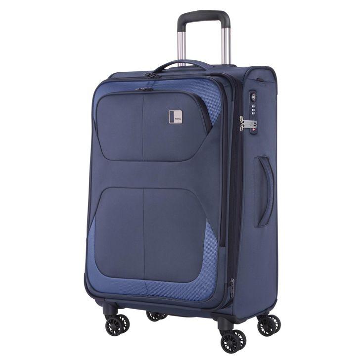 Erweiterbarer großer #Koffer TITAN Nonstop bei Koffermarkt: ✓Farbe navy ✓4 Rollen ✓79 x 47 x 32 cm ✓Weichgepäck