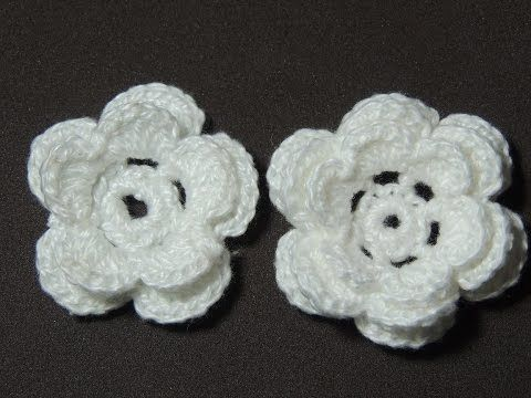 Flores de crochê - Flor de crochê Básica Modelo 2 (Canhotas) - YouTube