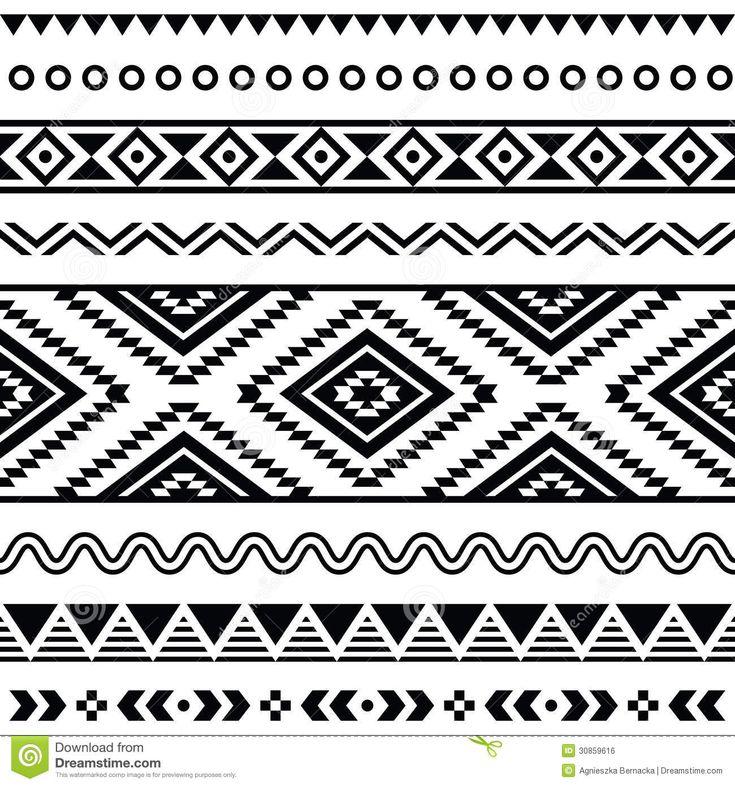 free+southwest+clip+art+designs | More similar stock images of ` Tribal seamless pattern, aztec black ...