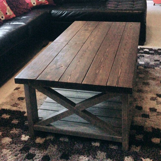 Fatigued Rustic Coffee Table With Shiplap Bottom Shelf Atlanta Only In 2020 Rustic Coffee Tables Coffee Table Farmhouse Coffee Table
