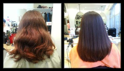 Yuko - Japanese permanent straightening before and after