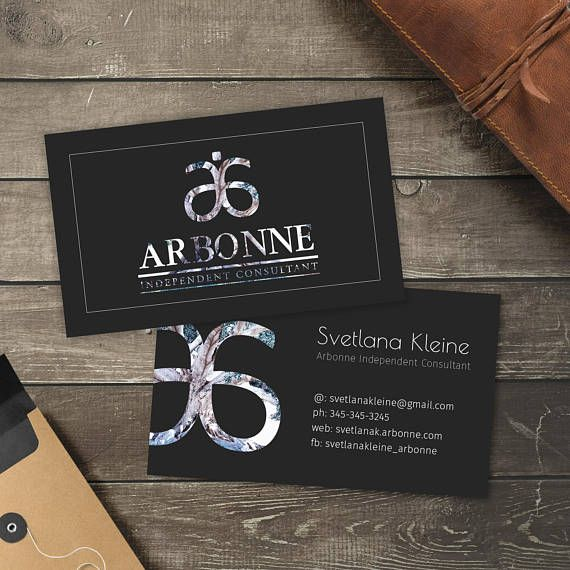 Arbonne Business Cards Free Personalised Arbonne Consultant