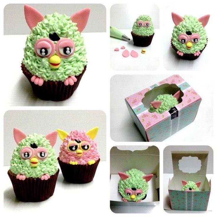 SmåFurby cupcakes! Så fine!